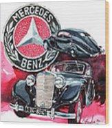 Mercedes Benz 320 Streamline Wood Print