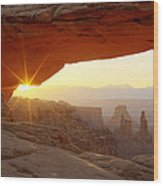 Mesa Arch Wood Print by Tom Cuccio