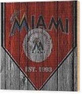 Miami Marlins Wood Print