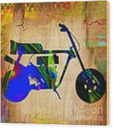 Mini Bike Wood Print