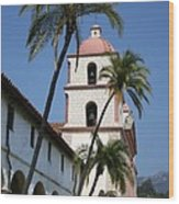 Old Mission Santa Barbara Wood Print
