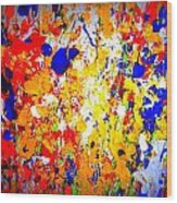Modern Abstract Painting Original Canvas Art Wild By Zee Clark Wood Print