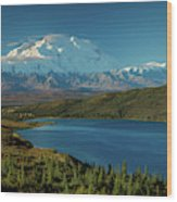 Mount Denali, Previously Known Wood Print