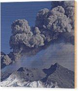 Mt Ruapehu 1996 Eruption New Zealand Wood Print