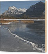 Mt. Rundle And Vermillion Lake Wood Print