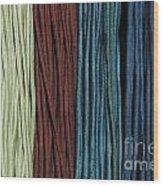Multi-colored Striped Fabrics Wood Print