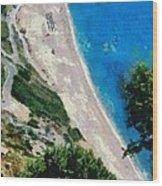 Myrtos Beach In Kefallonia Island Wood Print