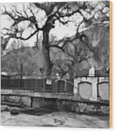 Near Entrance To Hindu Temple Of Mattan Wood Print