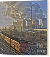 Neurath Power Station Germany Wood Print by David Davies
