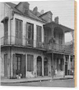 New Orleans House Wood Print