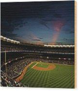 New York Mets V New York Yankees Wood Print