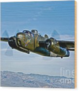 North American B-25g Mitchell Bomber Wood Print