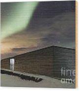 Northern Lights Iceland Wood Print