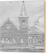 Norwegian Church Cardiff Bay Wood Print
