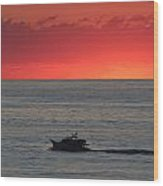 Ocean City Md Sunrise Wood Print