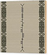 O'connor Written In Ogham Wood Print