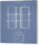 Oil Drum Patent Drawing From 1905 Wood Print