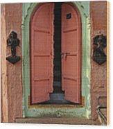 Old Doors India, Varanasi Wood Print