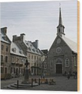 Old Town Quebec - Canada Wood Print