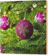 Ornament In A Christmas Tree Wood Print