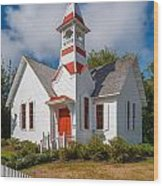 Oysterville Church Wood Print