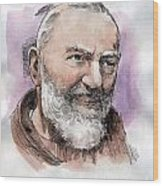 Padre Pio Wood Print