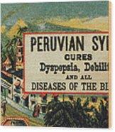 Patent Medicine Wood Print