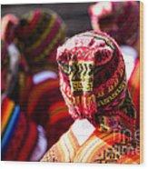 Peruvian Dancers At The Parade In Cusco Wood Print
