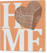 Philadelphia Street Map Home Heart - Philadelphia Pennsylvania R Wood Print