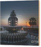 Charleston Sunrise  Wood Print
