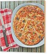 Pizza Wood Print