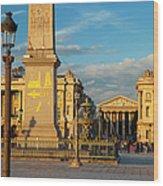 Place De La Concorde Wood Print