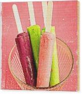 Popsicles Ice Cream Frozen Treat Wood Print