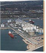 Port Of Tarragona, Catalonia Wood Print
