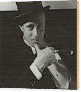 Portrait Of Leslie Howard Wood Print
