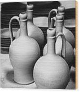 Pottery Wood Print