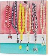 Prayer Beads Wood Print