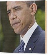 President Obama Wood Print by JP Tripp