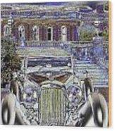 Psychedelic Classic Lagonda Wood Print