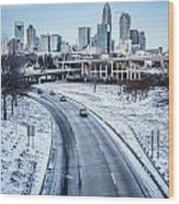 Rare Winter Scenery Around Charlotte North Carolina Wood Print