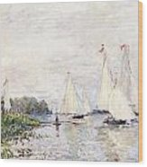 Regatta At Argenteuil Wood Print