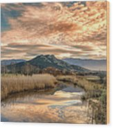Reginu River And Punta Di Paraso Wood Print
