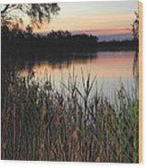 River Murray Sunset Series 1 Wood Print