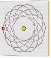 Rosetta Orbit Around Black Hole, Artwork Wood Print