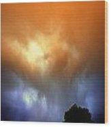Rounds 2 3 Late Night Nebraska Storms Wood Print