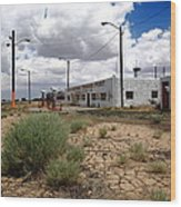 Route 66 - Twin Arrows Trading Post Wood Print