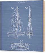 Sailboat Patent Drawing From 1938 Wood Print by Aged Pixel