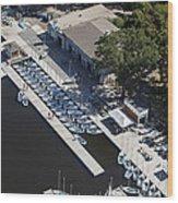 Sailing Boats In Charles River, Boston Wood Print
