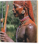 Samburu Warrior Wood Print