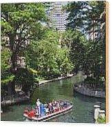 San Antonio Riverwalk Wood Print